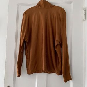 Silk mock neckneck vintage top